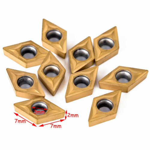 10Pcs Carbide Inserts DCMT0702 W//Wrenches 4PCS Lathe Turning Tools Holder