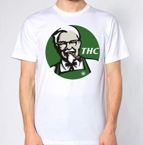 THC KFC T-SHIRT MARIJUANA DRUGS CANNABIS GANGSTER DOPE STONER WEED TOP