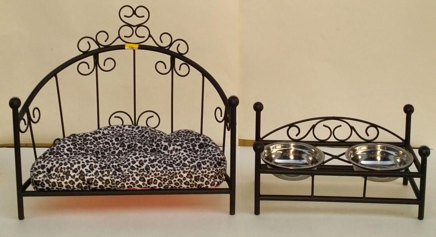 Sconto del 60% Custom-made Wrought Iron Iron Iron Dog Cat Pet Bed & Feeder  punto vendita