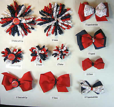 St. Louis Cardinals Themed Hair Bows Korkers Classic Bottle Caps U-Pick