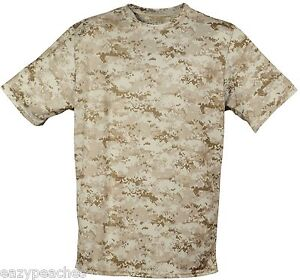 304abc1eaf0dc6 Details about USA MADE Mens S-3XL Short Sleeve Dri-fit Moisture Wicking  Camo T-shirt UPF 30+