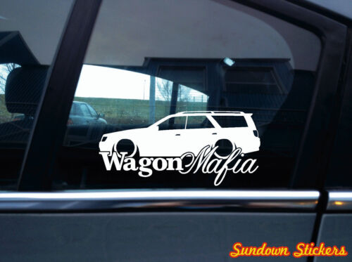 V2 for Nissan Stagea wagon WC34 Zenki 1996-1998 Lowered WAGON MAFIA sticker
