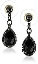 NEW 1928 Jewelry Black Victorian Mini Teardrop Earrings
