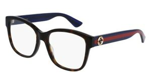 NEW-Gucci-Urban-GG-0038O-Eyeglasses-003-Havana-100-AUTHENTIC