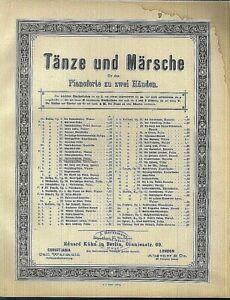 C-BOHM-TANZKRANZCHEN-POLKA-Op-42-uebergrosse-alte-Noten