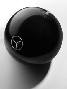 5x Original Mercedes-Benz Wasserball Ball Mercedes-Stern Logo schwarz B66958288