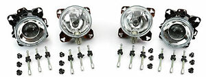 HELLA-90mm-Headlamps-headlights-Dipped-Main-Beam-Sidelight-Kitcar-Hotrod-Custom
