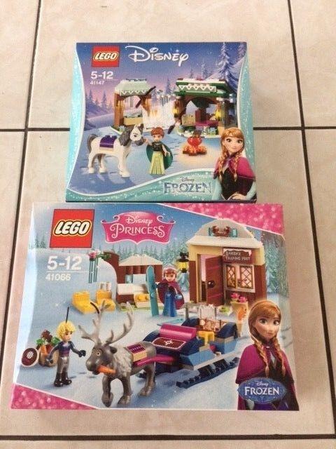 LEGO 41147 AVENTURES ENNEIGEES & 41066 TRAINEAU ANNA REINE DES NEIGES NEUVES