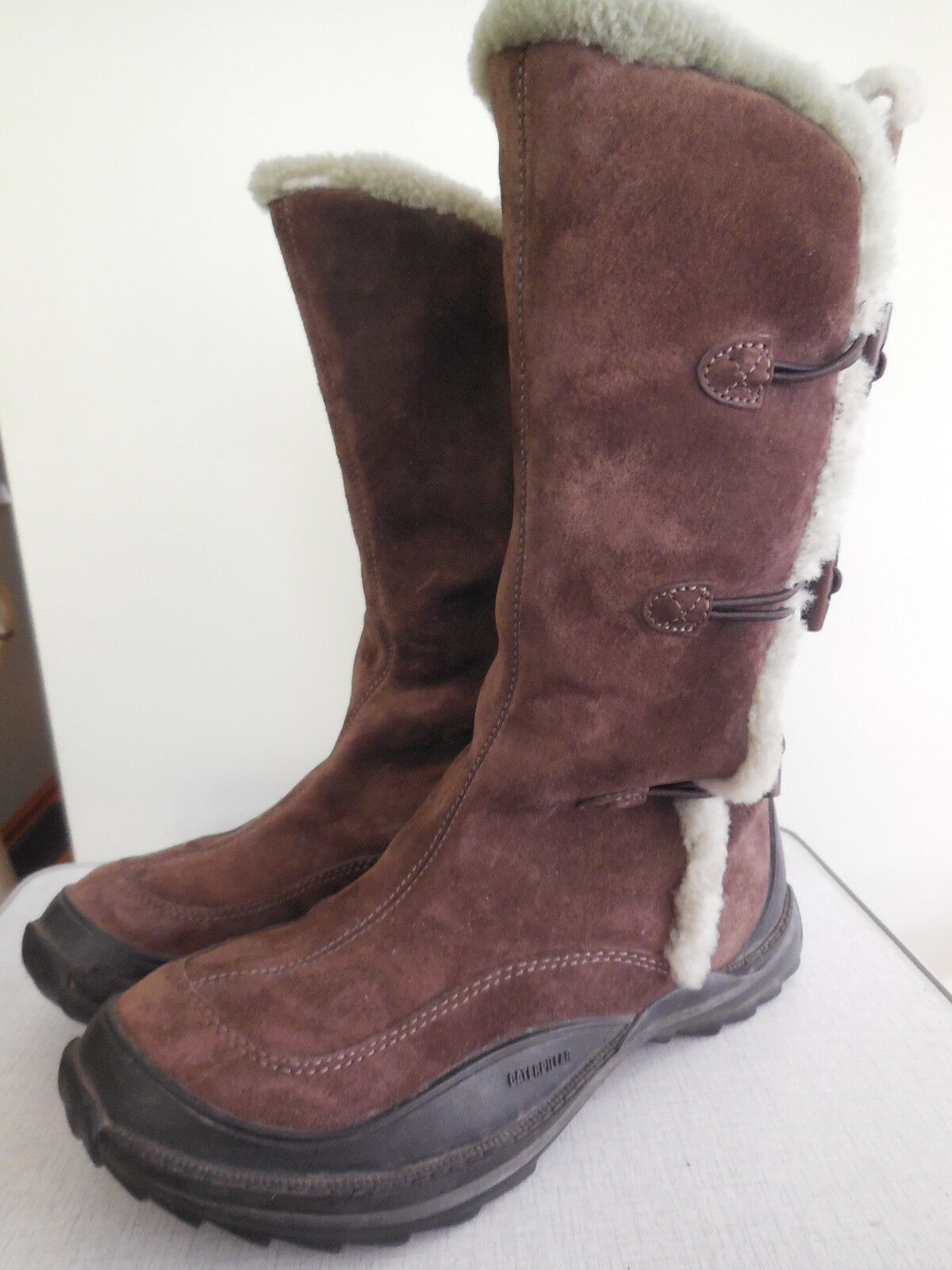 CAT Caterpillar Polartec brown leather boots, woman's size US 9