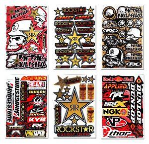 Golden-Rockstar-Energy-Stickers-Motorcycle-Dirt-Bike-Motocross-MTB-BMX-FX-Decals