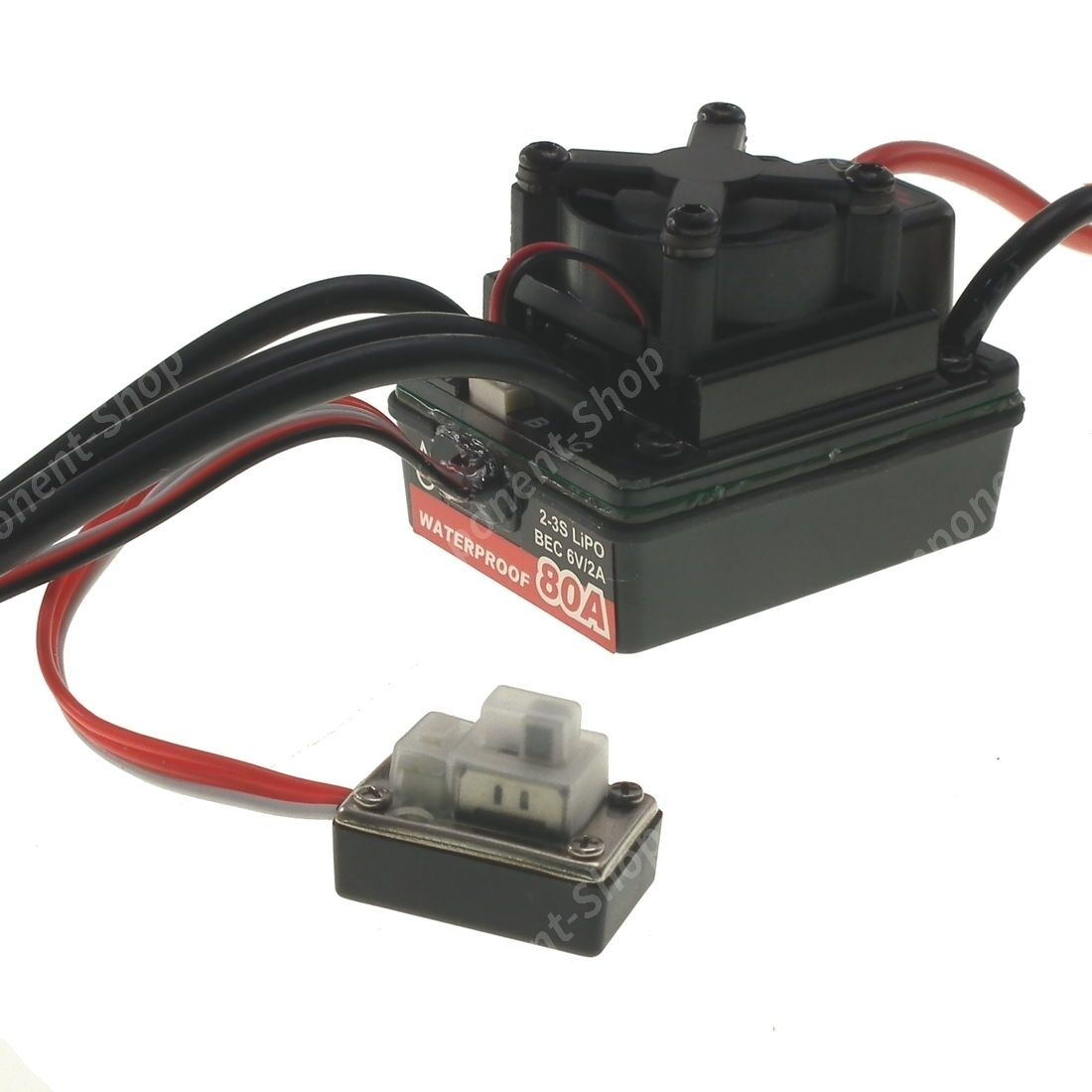 80A Ground Waterproof Brushless Motor Speed Controller (ESC) Perfect for Cars
