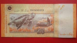 13th Series Malaysia Muhammad Ibrahim RM20 Banknote ( BV2499333 ) - UNC