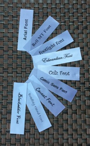 10 White Satin Personalised Name Labels
