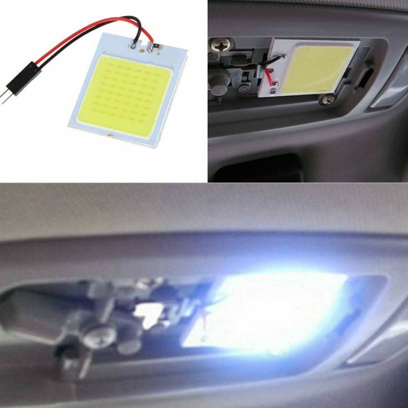 car light kit interior 12v white 48 led t10 4w interior panel dome lamp bulb new. Black Bedroom Furniture Sets. Home Design Ideas