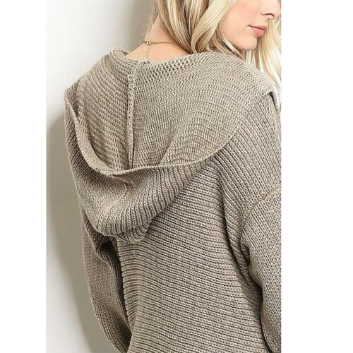 Sweater Hooded Boho Cardigan Maxi Hippie L S Oversized Open Haute M Xl Fringed 0E1AqAw