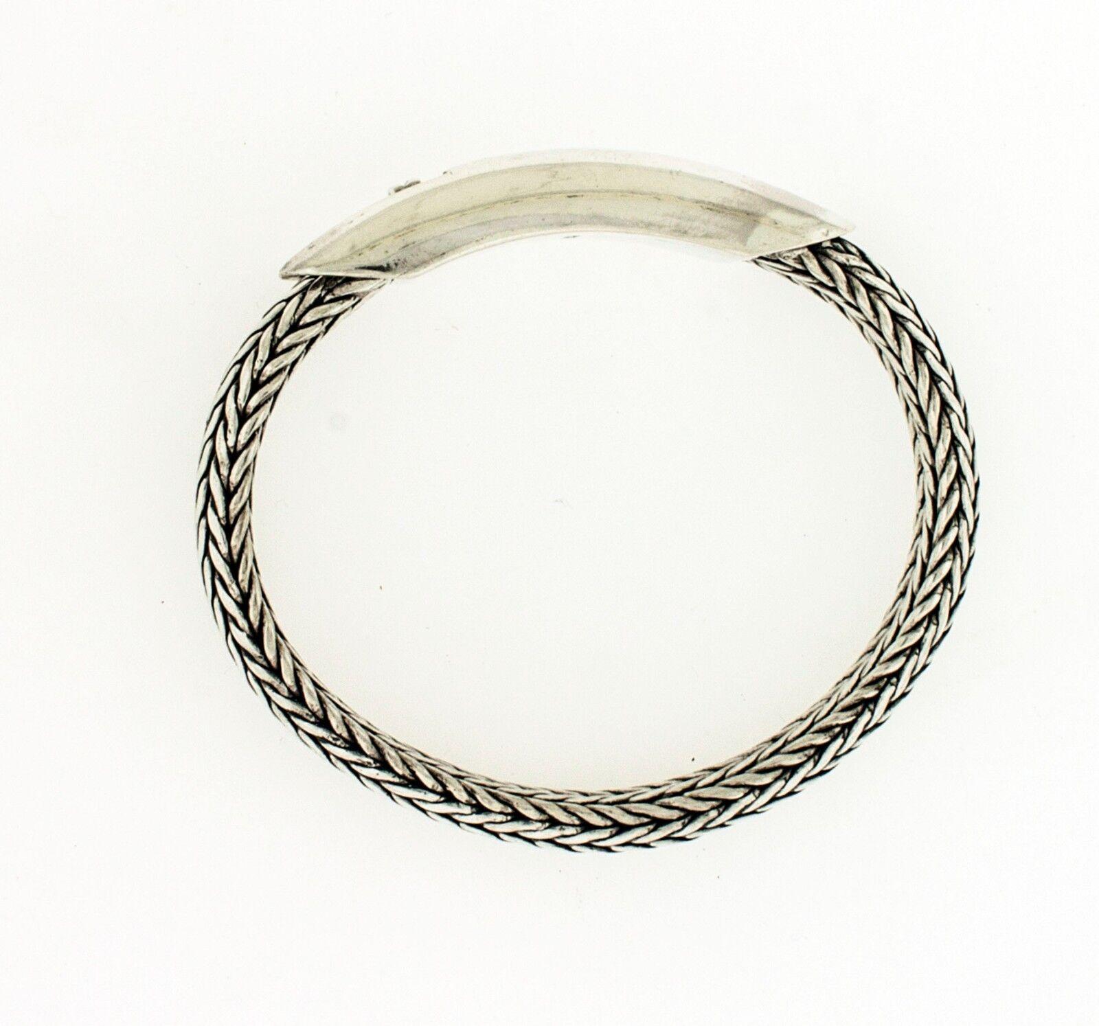 Nuovo argentoo 925 925 925 Ondulata Frumento Corda Serpente Bali neroened 20.3cm 95aab8