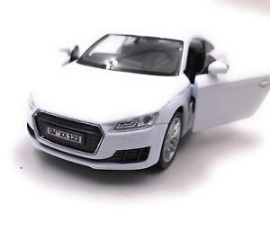 Audi-Tt-Compact-Athlete-Model-Car-With-Desired-License-Plate-White-Scale-1-3-4