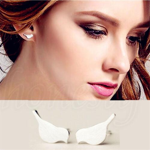 1 Pair Bithday Gift Bird Shape Women Solid Sterling Silver Ear Stud Earrings