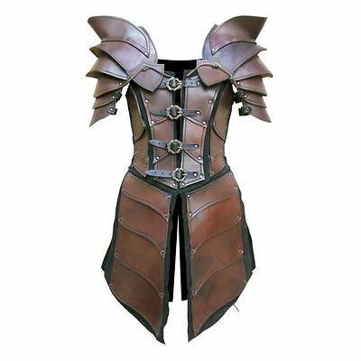 Real leather  medieval re-enactment theatrical celtic Armor LARP SCA viking