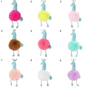 AU-KE-KF-KE-Home-Horse-Faux-Fur-Ball-Keychain-Keyring-Pendant-Bag-Car-Key-Ho