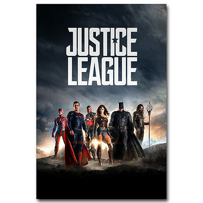 Justice League Superheroes Movie Silk Poster Print  13x20 24×36 inch