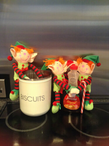 2 christmas elf soft toy teddy believe magic santa naughty advent childs gift