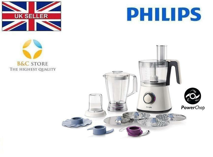 Nouveau Electric Kitchen Food Processor PHILIPS VIVA HR7762 00 blender hachoir 750 W