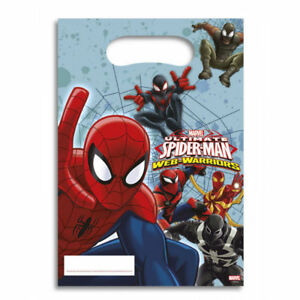 Boys-Girls-Birthday-Party-Ultimate-Spiderman-Themed-Loot-Bag-Lunch-Bags-Gift