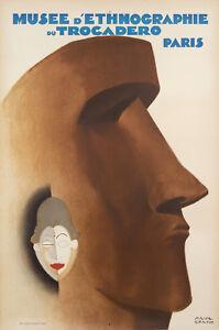 Original-Vintage-Poster-P-Colin-Ethnographic-Museum-Paris-Trocadero-1930