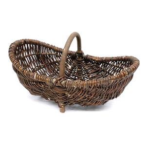 Gartenkorb-46cm-Erntekorb-Kartoffelkorb-Weidenkorb-natur-m-Folie