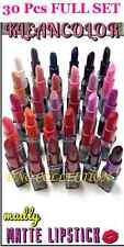 5 SETs 30 pcs Kleancolor Madly Matte Lipstick VIVID BOLD WHITE BLACK BLUE PURPLE