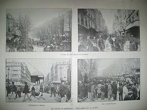 MARSEILLE-GREVES-OUVRIERS-DU-PORT-DOCKERS-ECOLE-POLYTECHNIQUE-GRAVURES-1901