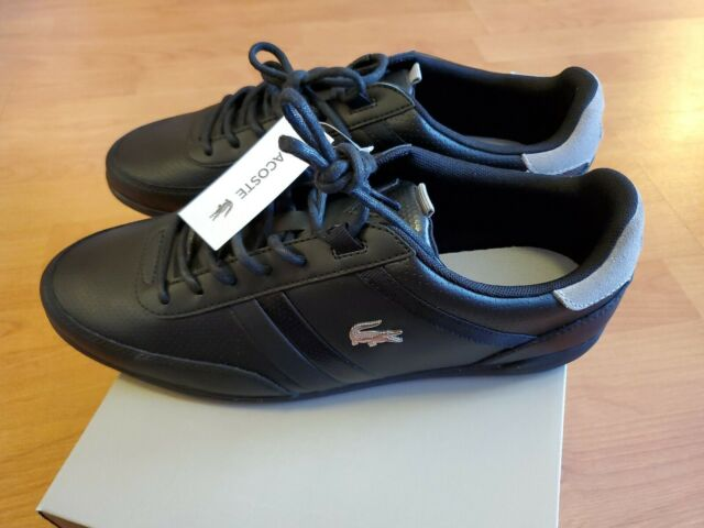 LACOSTE  GIRON 119 1 U CMA Mn`s (M) Black/Grey Leather Casual Shoes Size 8 New