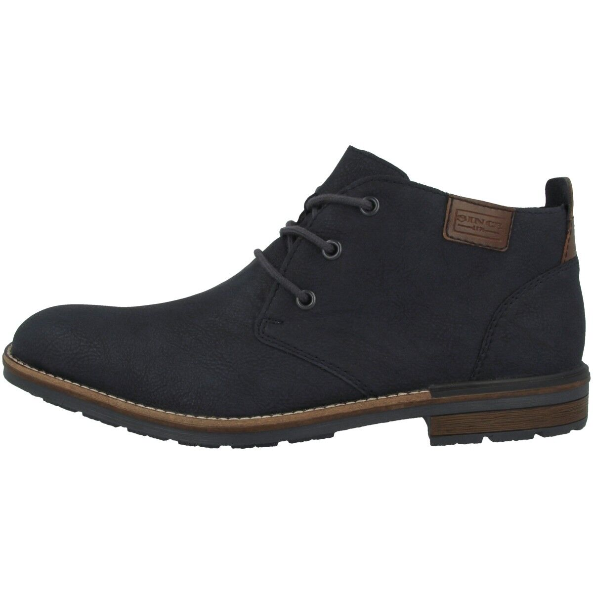 Rieker Derby-Ambor Schuhe Herren Antistress Schnürer Halbschuhe blue B1340-14