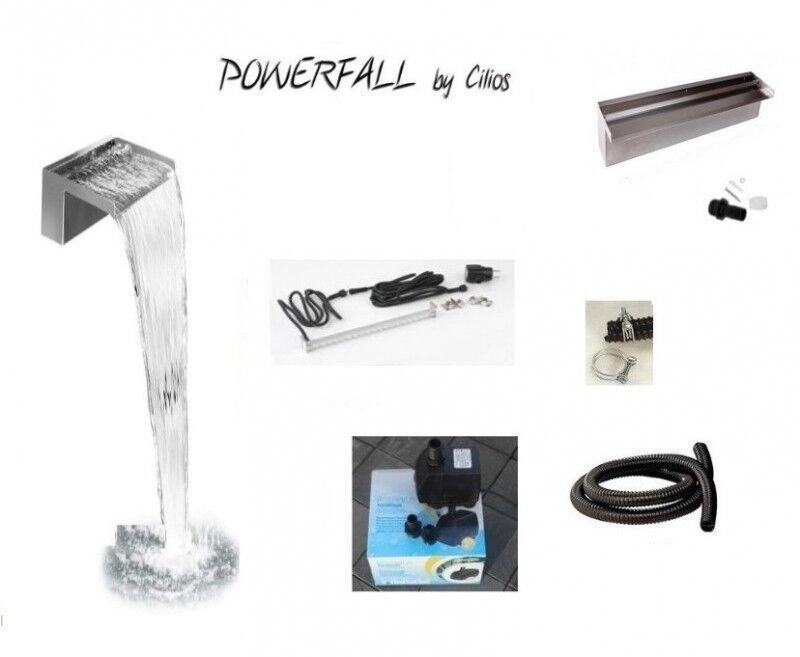 Powerfall Profi Kit 300 LED Wasserfall Baukasten ca. 2,00 m Fallhöhe m. Pumpe