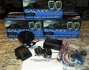 NEW-galaxy-ScyTek-G27-Car-Alarm-Security-System-2-Chrome-Remotes-Key-less-A27