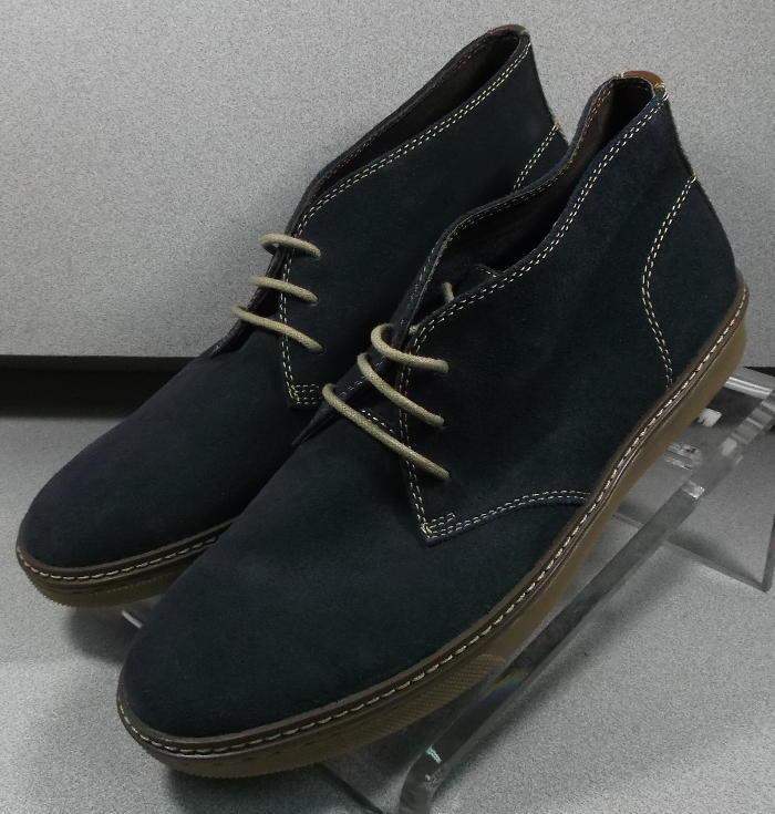 252047 MSBT 50 Chaussures Hommes Taille 11.5 m en Daim Bleu Marine Lacets Bottes Johnston & Murphy