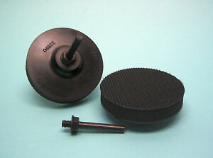 Stuetzteller-soft-mit-Klett-75mm-6mm-Schaft-fuer-Schleif-und-Polierscheiben