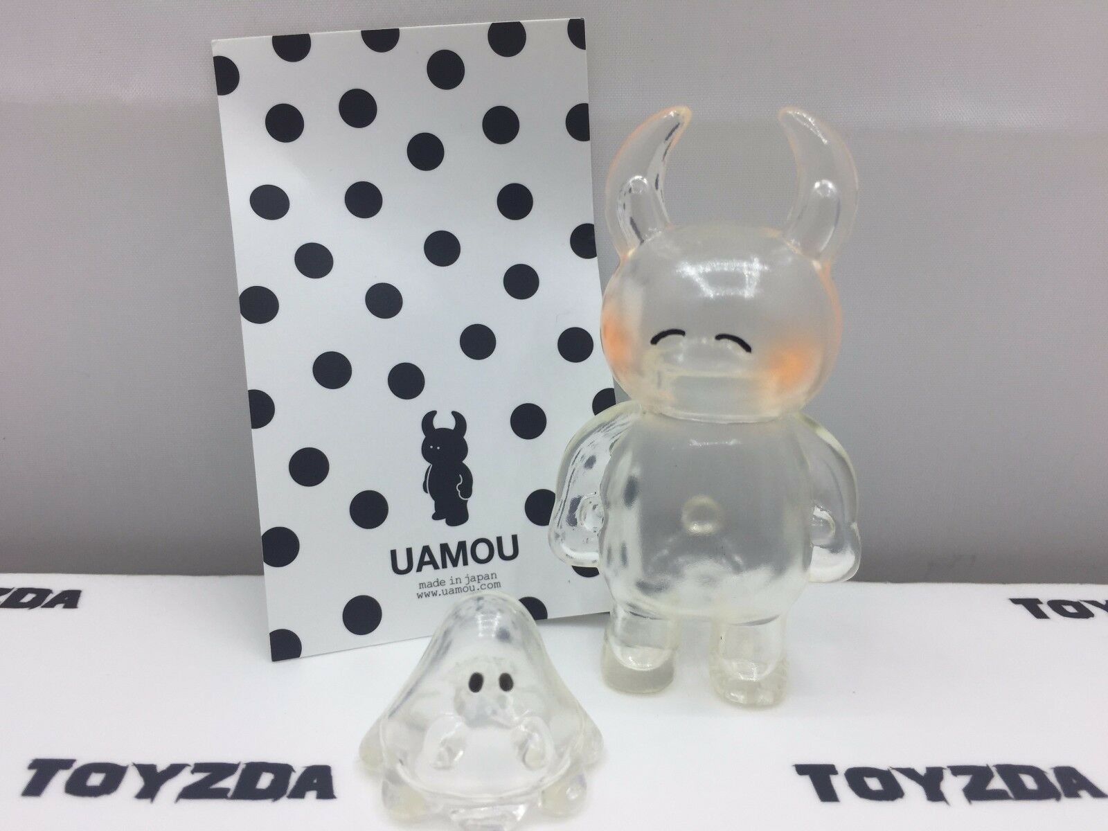 [Made In Japan] Happy Expression - - - UAMOU & Boo Clear Soft Vinyl Figure 2 pc 0c6d73