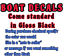 """MARINE GRADE YOUR COLOR CHOICE.43 PAIR OF 5/""""X28/"""" Thompson BOAT HULL DECALS"""