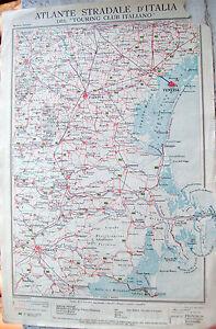 Cartina Dell Italia Rovigo.1920 Carta Geografica Venezia Ferrara Touring Padova Rovigo Vicenza Comacchio Ebay