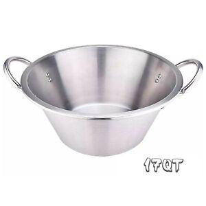 16-5-034-Comal-Stainless-Steel-Para-Carnitas-Cazo-Heavy-Duty-Caso-Cooking-Pot-Pan