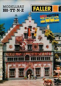 Enthousiaste Faller-nouveautés 2002 Prospectus Brochure Modélisme Train Ho Tt N Z-b17621-afficher Le Titre D'origine