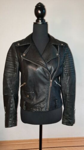Zara Women's Real Leather Biker Jacket Size S