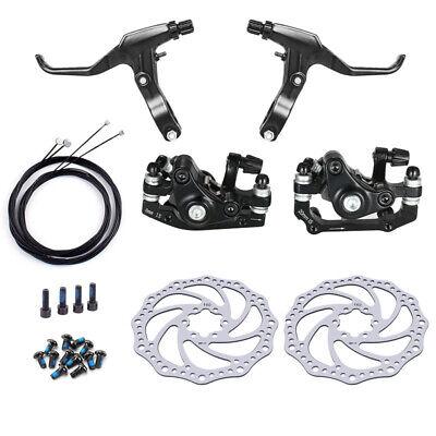 MTB Bicycle Bike Al Alloy Mechanical Disc Brake Rotor Set Clamp Front Rear Brake