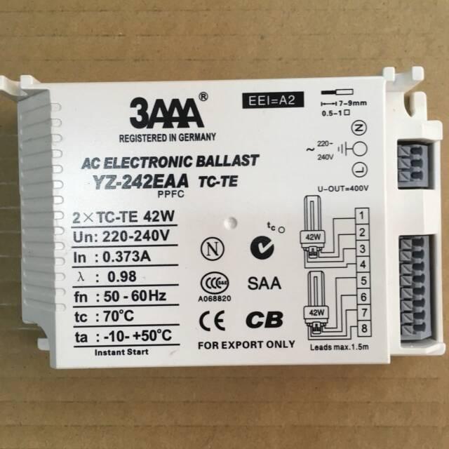 3AAA YZ-242EAA TC-TE 2x 42w 4pin 220-240V Compact Fluorescent (CFL) lamp ballast