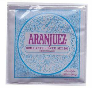Aranjuez classical guitar strings Brillante silver set Medium Gauge 500