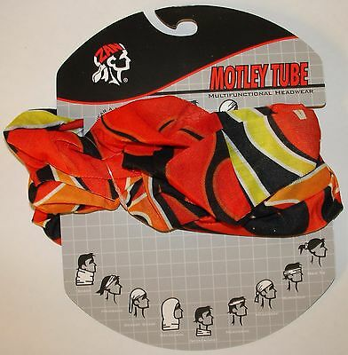 Solid Red Motley Tube Multi Function Headwear Biker Beanie Sports ATV