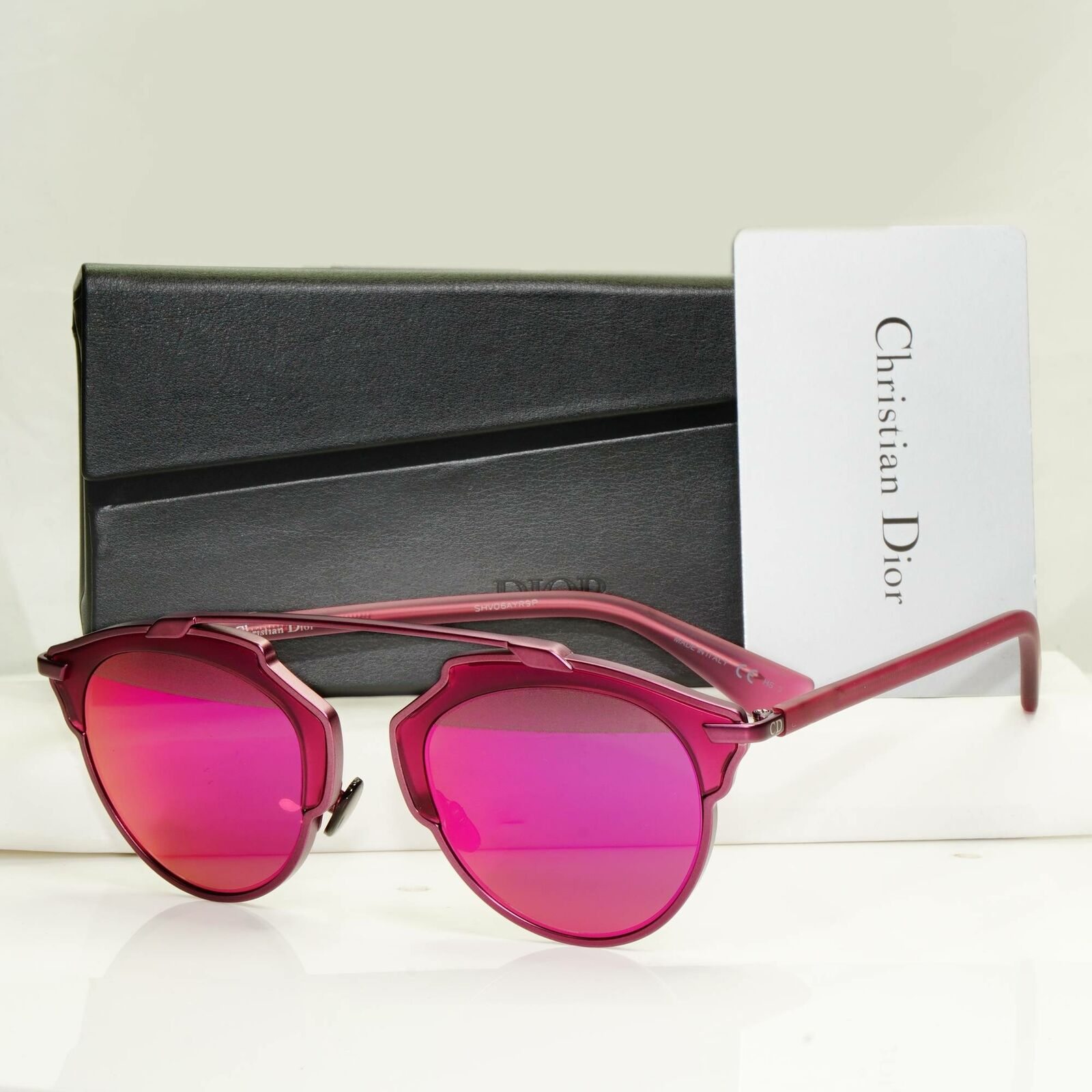 Authentic Dior Womens So Real Iconic Fashion Sunglasses Violet Mirror Metal