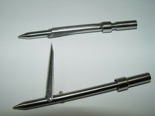 tip with ring to fix the flopper stainless steel 7mm threads  spear gun